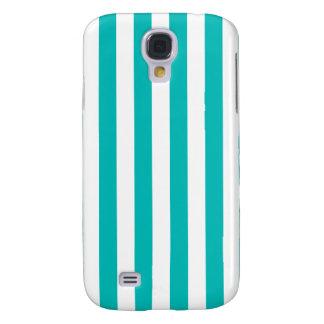 Aqua Vertical Stripes Samsung Galaxy S4 Case