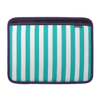 Aqua Vertical Stripes Sleeve For MacBook Air