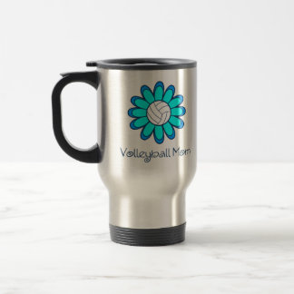 Aqua Volleyball Mom Travel Mug