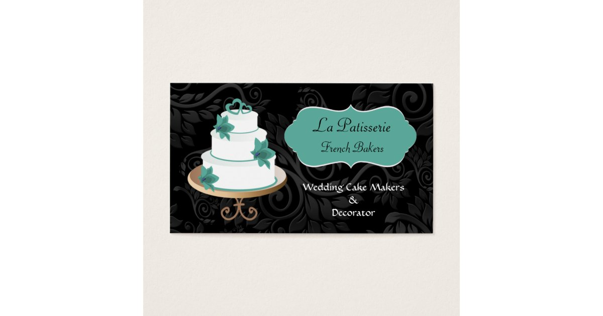 wedding cake business from home aqua wedding cake makers business cards zazzle au 22133