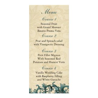 aqua  Wedding menu Customized Rack Card