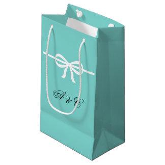 Aqua & White Bows Party Bags