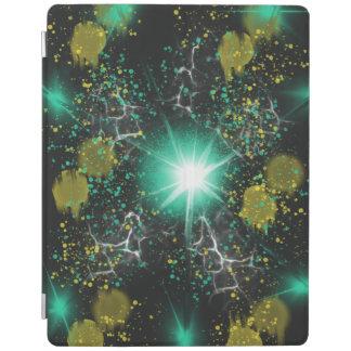 Aqua White Fantasy Space Star Abstract Art Design iPad Cover