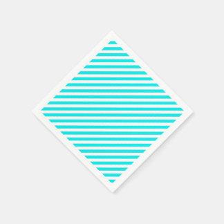 Aqua white for coktail Paper napkins