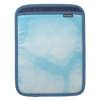Aqua White Mist Giraffe Print Sleeves For iPads