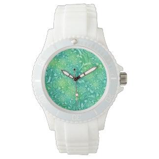 Aqua  White Silicon Watch