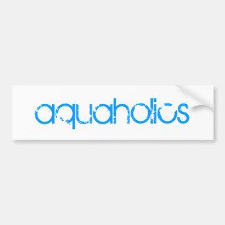 aquaholics bumper sticker