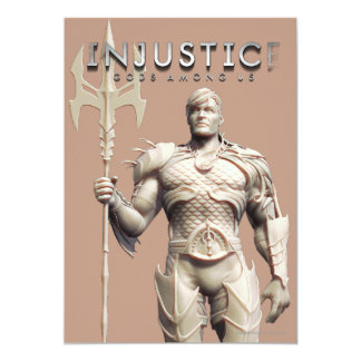 Aquaman Alternate 13 Cm X 18 Cm Invitation Card