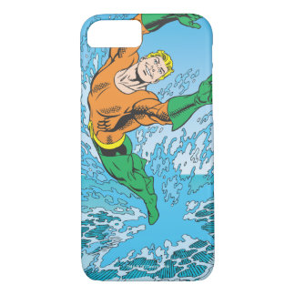 Aquaman Jumps Out of Sea iPhone 7 Case