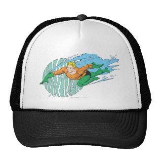 Aquaman Leaps Left Hat