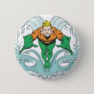 Aquaman Lunging Forward 6 Cm Round Badge