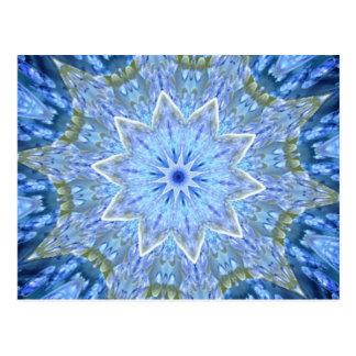 Aquamarine and Peridot Daydream Kaleidoscope Postcard
