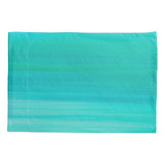 Aquamarine and turquoise colored ocean water pillowcase