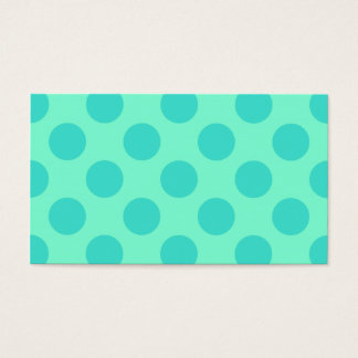 Aquamarine and Turquoise Polka Dots Business Card