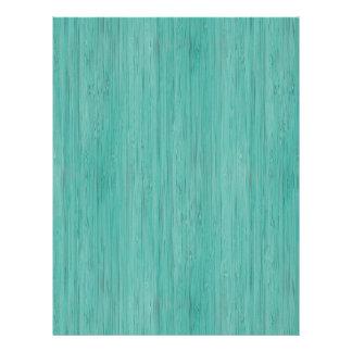 Aquamarine Bamboo Wood Grain Look 21.5 Cm X 28 Cm Flyer