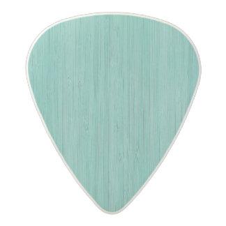 Aquamarine Bamboo Wood Grain Look Acetal Guitar Pick