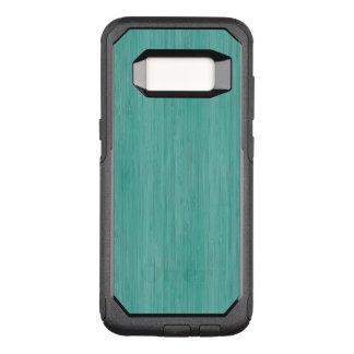 Aquamarine Bamboo Wood Grain Look OtterBox Commuter Samsung Galaxy S8 Case