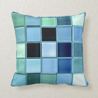AquaMarine Beach Throw Pillow Mosaic Art
