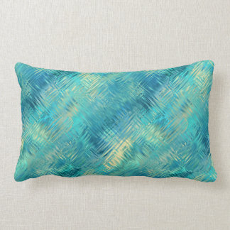 Aquamarine Blue Crystal Gel Texture Lumbar Cushion