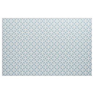 Aquamarine Blue Geometric Pattern Fabric
