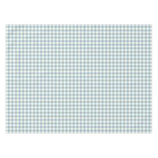 Aquamarine Blue Gingham Cotton Tablecloth