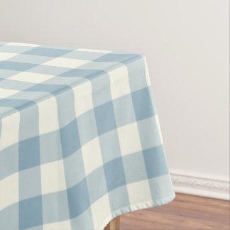 Aquamarine Blue Gingham Pattern Check Tablecloth