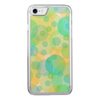 Aquamarine Circles Bubbles Fun Whimsical Art Carved iPhone 8/7 Case