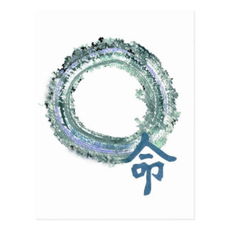 Aquamarine Destiny - Enso Postcard