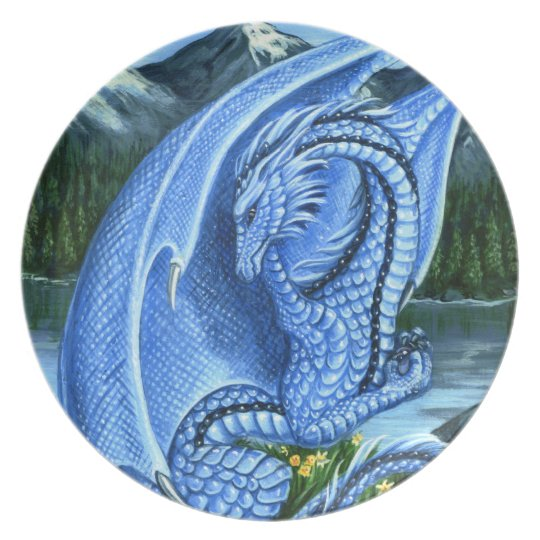 Aquamarine Dragon Plate