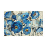 Aquamarine Floral Gallery Wrapped Canvas