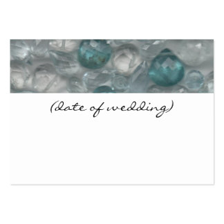 Aquamarine Gems Guest Place Name Card Business Card
