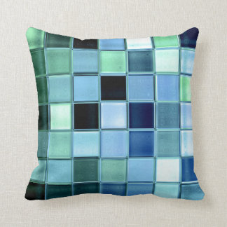 AquaMarine glass mosaic custom home decor Cushion