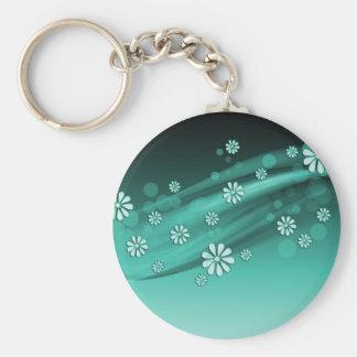 Aquamarine Luxury Floral Keychain