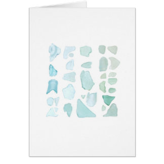 Aquamarine Sea Glass Card