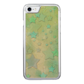 Aquamarine Stars Celestial Modern Art Carved iPhone 7 Case