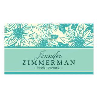 Aquamarine Sunflowers Floral Business Card
