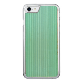 Aquamarine Teal and Green Vertical Stripes Pattern Carved iPhone 8/7 Case
