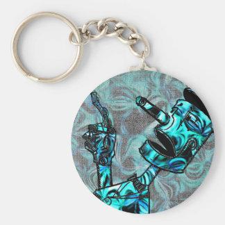 Aquamarine Tin Man Key Ring
