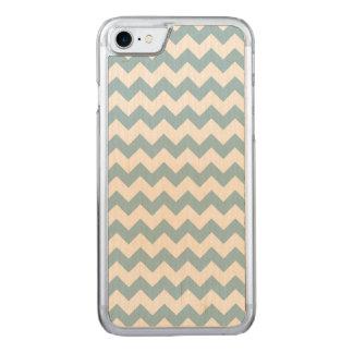 Aquamarine White Chevron Pattern Carved iPhone 8/7 Case