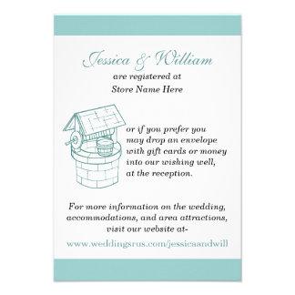 Aquamarine White Wedding Wishing Well Card
