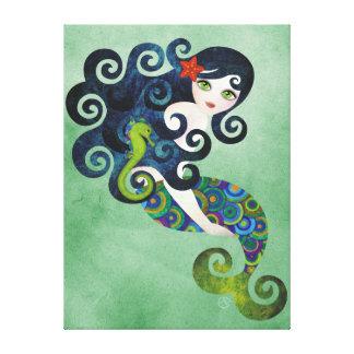 Aquamarine Wrapped Canvas Wall Art Print