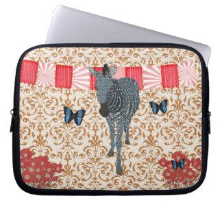 Aquamarine Zeb Boho Butterflies Golden Damask Comp Laptop Computer Sleeves
