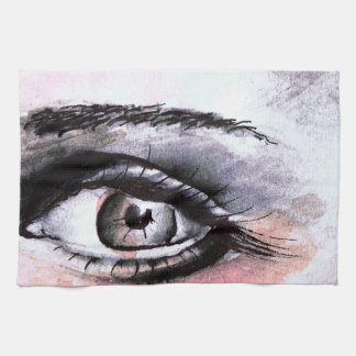 Aquarel eye hand towel