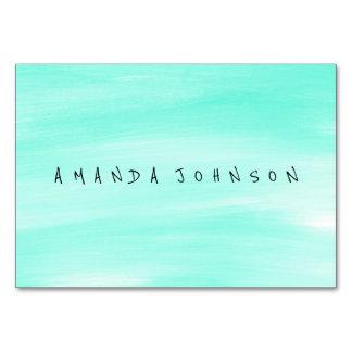 Aquarelle Mint Pastel Delicate Painted Table Cards