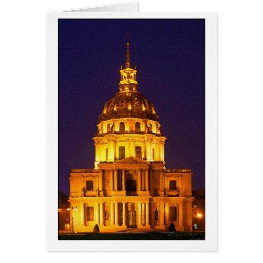 Aquarelle Paris Eglise Saint-Louis des invalides Greeting Card