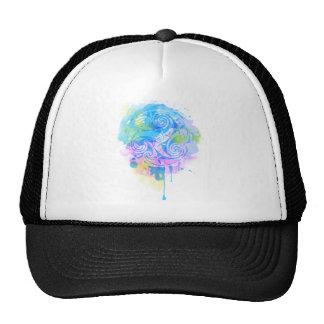 Aquarelle triskel cap