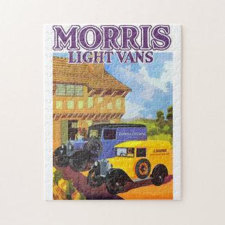 Aquarelle vintage ad British vans Jigsaw Puzzle