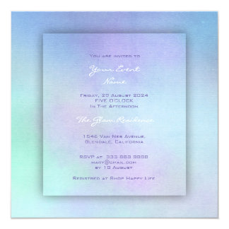 Aquarelle Watercolor Purple Ocean Mint Amethyst Card