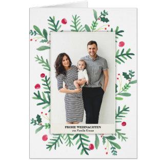 Aquarellmalerei   Frohe Weihnachten Card
