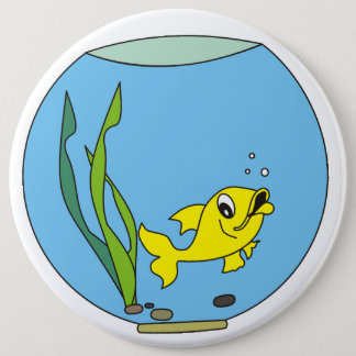 aquarium 6 cm round badge